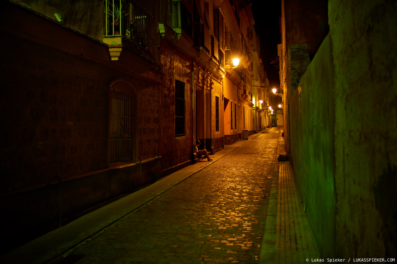 Night in Cadiz.