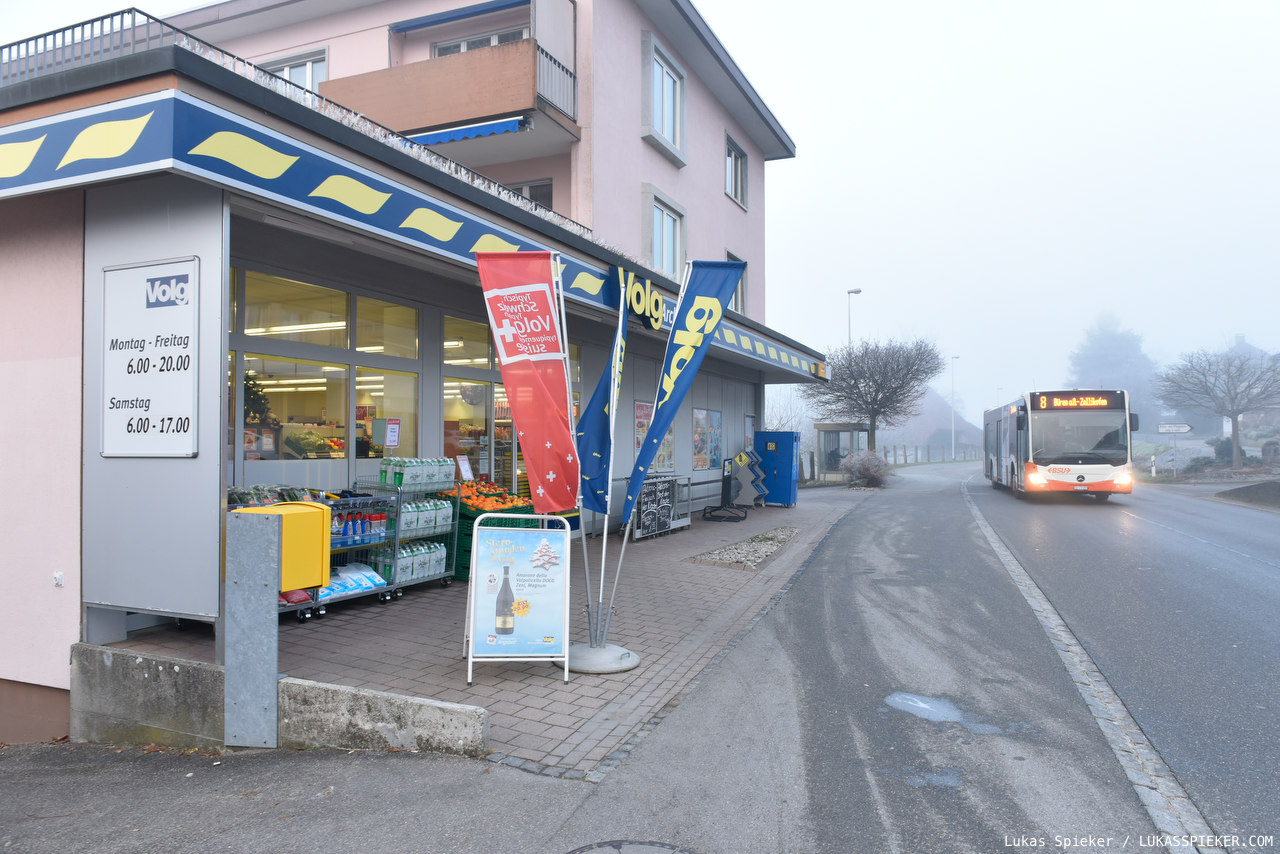 Volg is a retail chain with over 500 stores mostly in the German part of Switzerland. A Volg store selling food and household articles is often the only shop in a village. The chain selling regional products has its roots in 19th-century agricultural cooperatives.