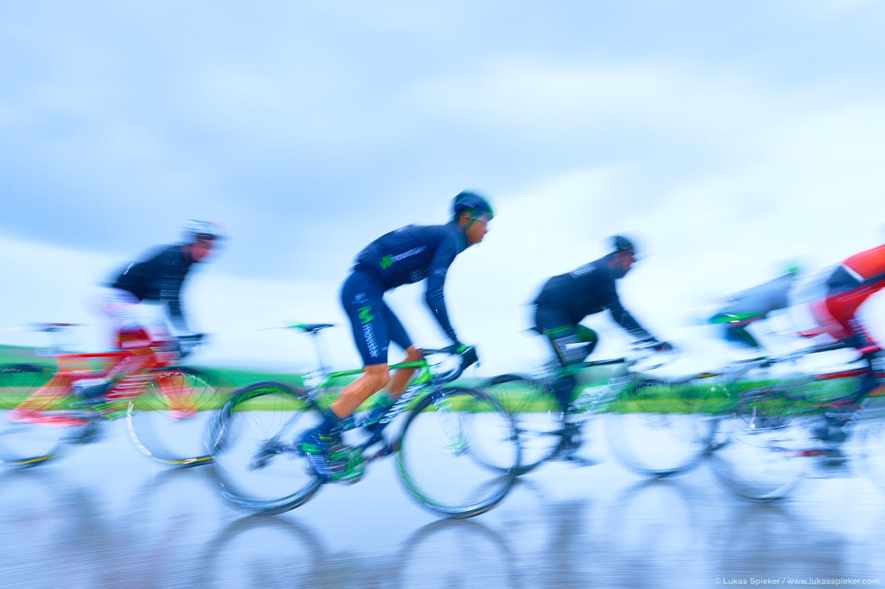 Riders face heavy rain and strong headwind in stage 4 of the Tour de Romandie leading from La Neuveville to Fribourg May 1, 2015.