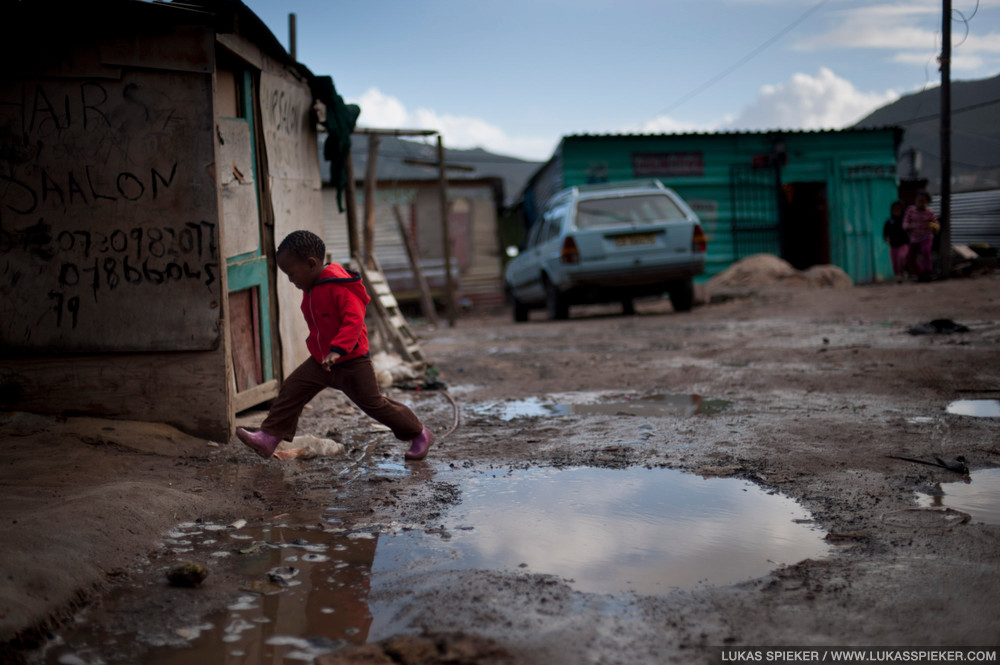 A kid in Imizano Yethu, Hout Bay, South Africa.