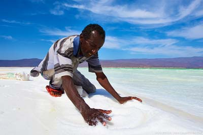 Salt from one of the hottest places on Earth: the Afar Triangle in the north of the East African Rift in Djibouti.