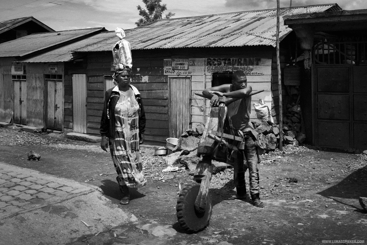 Street scene in Goma, Democratic Republic of the Congo.