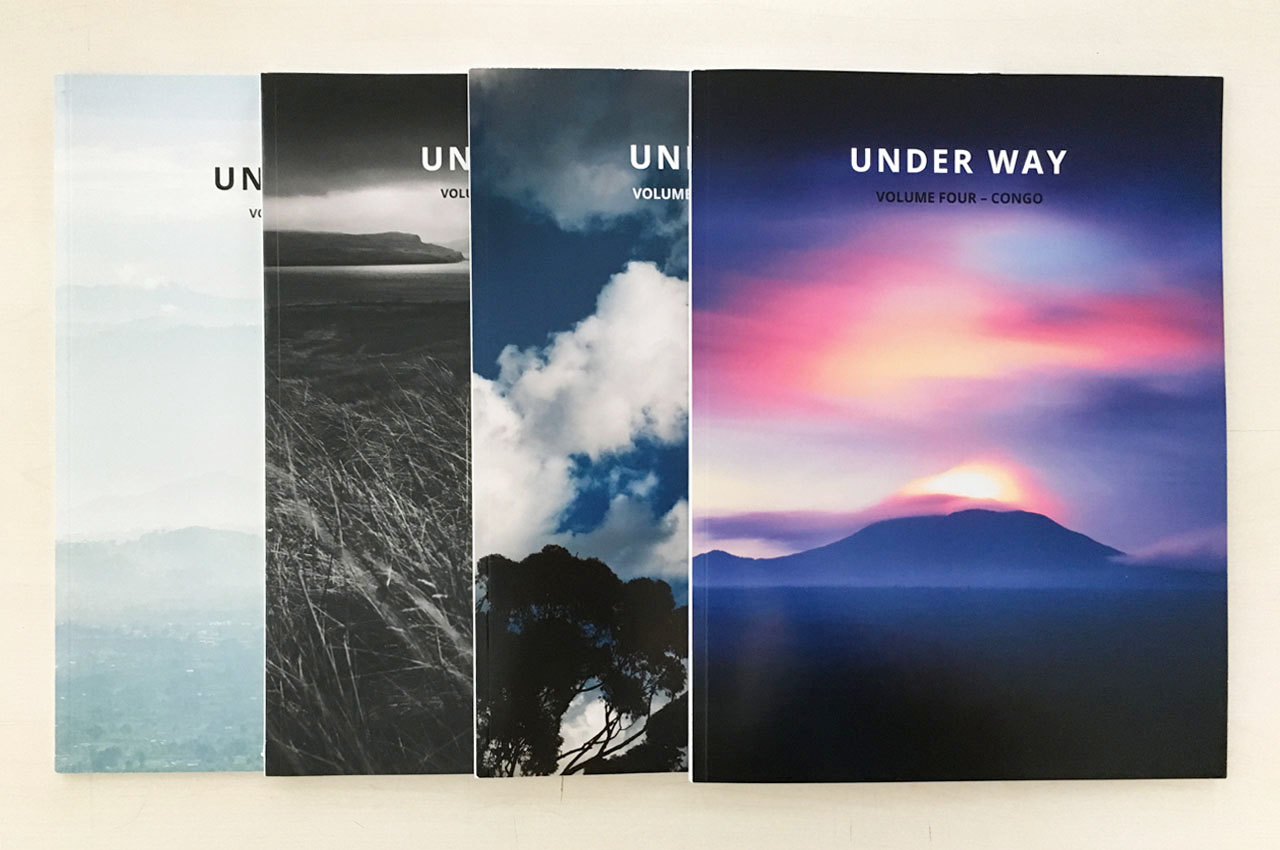 Under Way magazine: four printed volumes: Rwanda, Hebrides, Journey, and Congo.