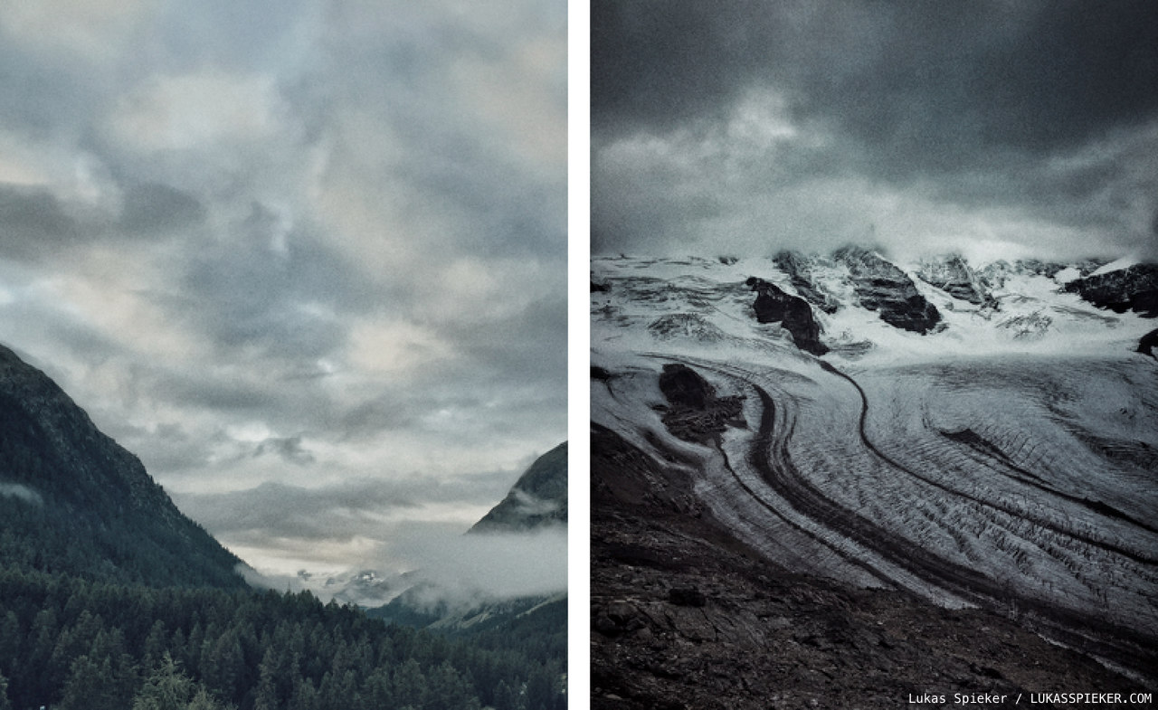 Landscapes in Switzerland's Engadin valley in the canton of Grisons.